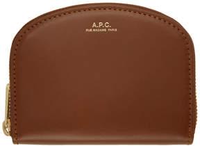 A.P.C. Brown Half Moon Compact Wallet