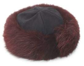 Saks Fifth Avenue Fox Fur Cuff Hat