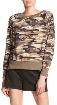 Dex Ripped Camo Print Sweatshirt