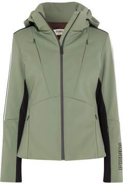 Fendi Hooded Printed Ski Jacket - Green