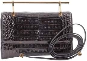 M2Malletier Black Leather Clutch Bag