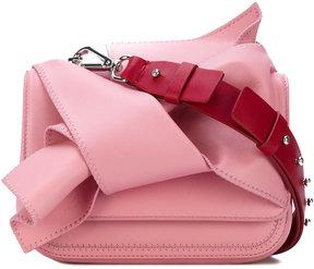 No21 flat bow shoulder bag