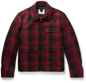 Kent & Curwen Checked Wool-Flannel Jacket