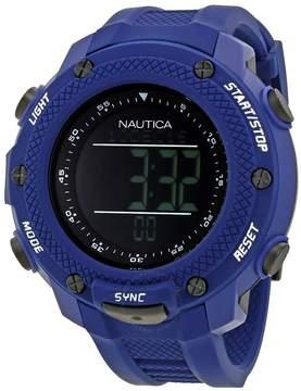 Nautica NMX 15 Black Digital Dial Blue Rubber Men's Watch