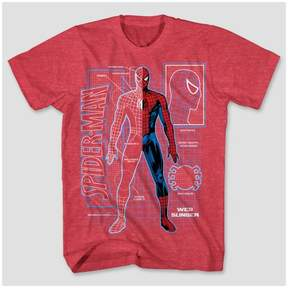 Spiderman Boys' Schematic T-Shirt - Red Heather