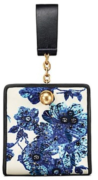 Tory Burch Darcy Embroidered Clutch - BLUE FLORAL - STYLE