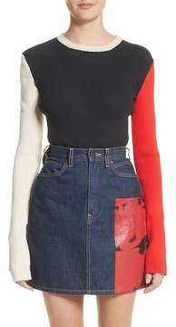 Calvin Klein Colorblock Logo Knit Top