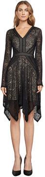 BCBGMAXAZRIA Alex Lace Handkerchief Dress