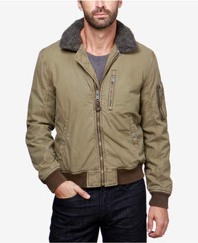 Lucky Brand Men's B-15 Flight Bomber Jacket with Faux Fur Collar