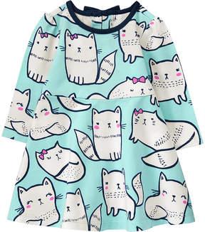 Gymboree Blue Cat A-Line Dress & Diaper Cover - Infant