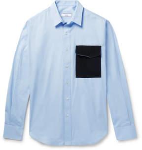 Ami Contrast-Trimmed Cotton-Poplin Shirt