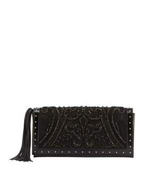 Balmain Beaded and Embroidered Clutch Bag