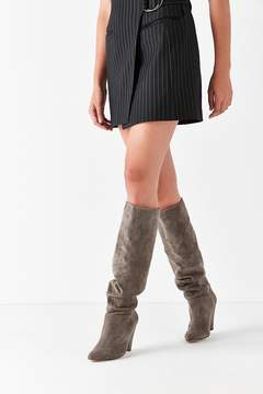 Urban Outfitters Tess Faux Suede Scrunch Knee-High Boot