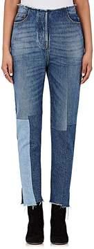 Valentino Women's Patchwork Crop Straight-Leg Jeans