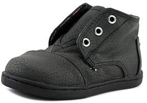 Toms Paseo Mid Youth Round Toe Synthetic Black Sneakers.