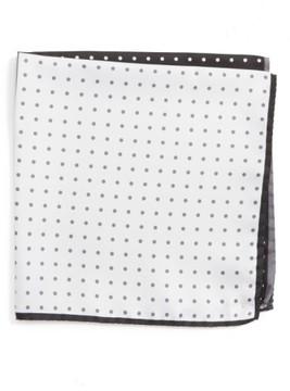 Nordstrom Men's Four Panel Dot Silk Pocket Square