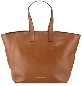 Brunello Cucinelli Large Glossy Calf Shopper Tote Bag