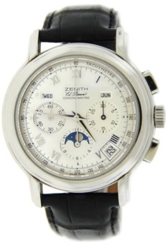 Zenith El Primero Chronomaster Moonphase 01.0240.410 Stainless Steel 40mm Mens Watch