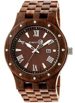 Earth Inyo Collection ETHEW3203 Unisex Wood Watch with Wood Bracelet-Style Band