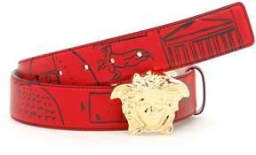 Versace Printed Calfskin Belt
