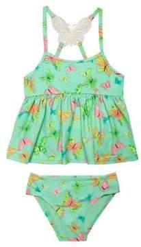 Hula Star Little Girl's Two-Piece Dreamy Butterfly Tankini Set