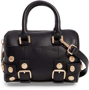 Topshop Bianca Studded Faux Leather Bowler Bag