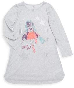 Petit Lem Little Girl's Super Hero Night Dress