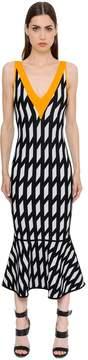 David Koma Geometric Jacquard Knit Dress