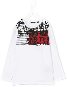 Antony Morato letters print longsleeved T-shirt