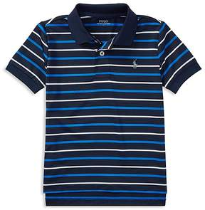 Polo Ralph Lauren Boys' Striped Moisture-Wicking Polo - Little Kid