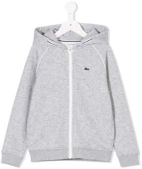 Lacoste Kids logo zip hoodie