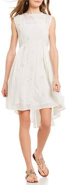 Chelsea & Violet Eyelet Hi-Low Dress