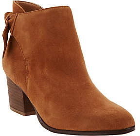 Sole Society As Is Suede Tie-Back Ankle Boots- Binx