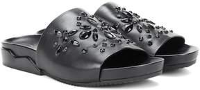 Tory Burch Brae embellished leather slides