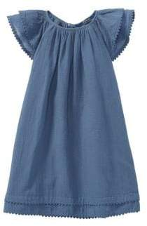 Ralph Lauren Little Girl's& Girl's Crochet-Trimmed Cotton A-Line Dress