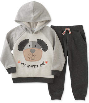 Kids Headquarters 2-Pc. Puppy-Print Hoodie & Jogger Pants Set, Toddler Boys (2T-5T)