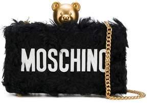 Moschino textured teddy clutch