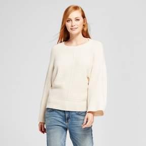 Cliche Women's Front Seam Pullover Sweater Cream