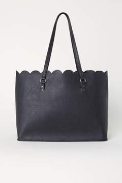 H&M Scalloped-edge Shopper - Black
