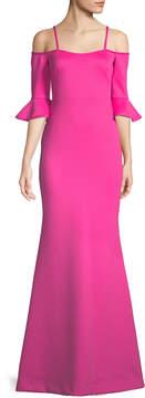 Black Halo Eve Christian 1/2 Bell Sleeve Cold-Shoulder Gown
