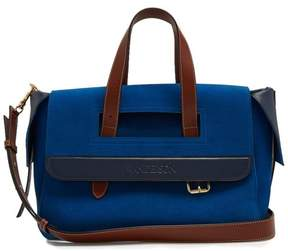 J.W.Anderson Tool Leather Trimmed Suede Tote - Womens - Blue
