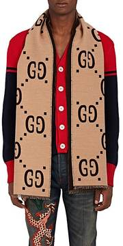 Gucci Men's GG Supreme Wool-Silk Scarf