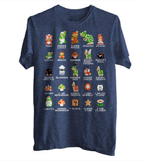 JCPenney Novelty T-Shirts Pixel Mario Cast Graphic Tee
