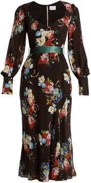 Erdem Berdine sweetheart-neck silk midi dress