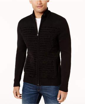 Alfani Men's Striped Chenille Full-Zip Sweater, Created for Macy's