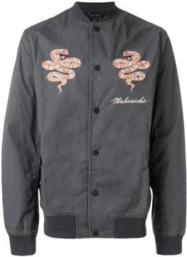 MHI embroidered bomber jacket