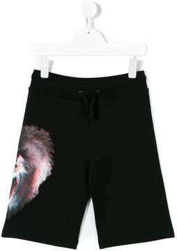 Marcelo Burlon County of Milan Kids monkey print shorts