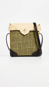 Atelier MANU Mini Pristine Combo Tweed Box Bag