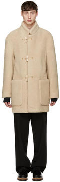 Lemaire Beige Faux-Shearling Gloverall Edition Duffle Coat