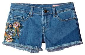 Blank NYC Kids Embroidered Cut Off Shorts in In Bloom Girl's Shorts